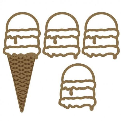 Double Scoop Ice Cream Cone Shaker - Shaker Sets