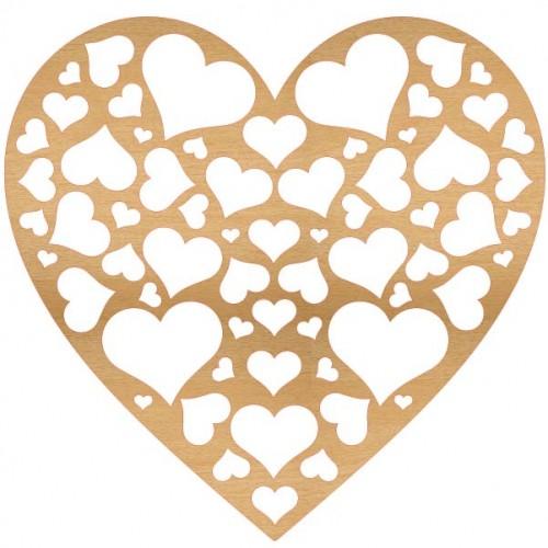 Full of Love Large Wood Heart - Home Decor