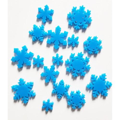 Blue Acrylic Snowflakes - Acrylic