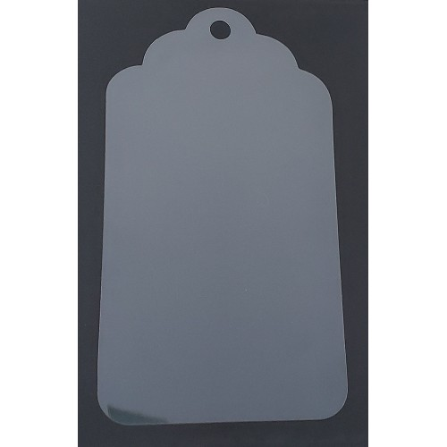 Clear Large Tag 3 - Clear Acrylic