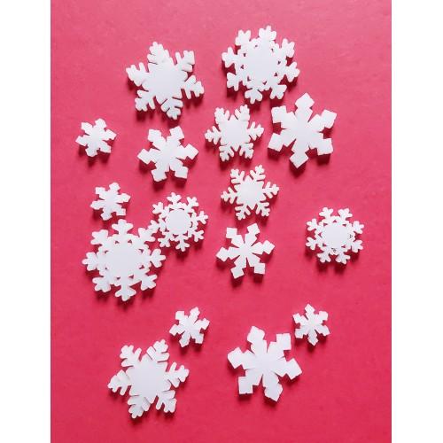 White Snowflakes - Acrylic