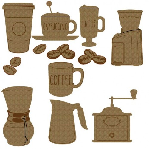 Coffee Set 2 - Chipboard