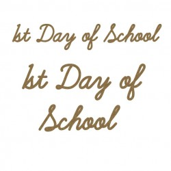 1st Day of School Title Set