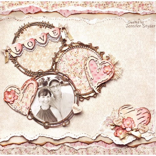 Distressed Hearts - Valentine s Day