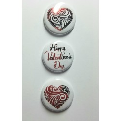 Happy Valentines Day Red Foil Flair