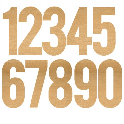 Large Wood Numbers - Wood Veneers