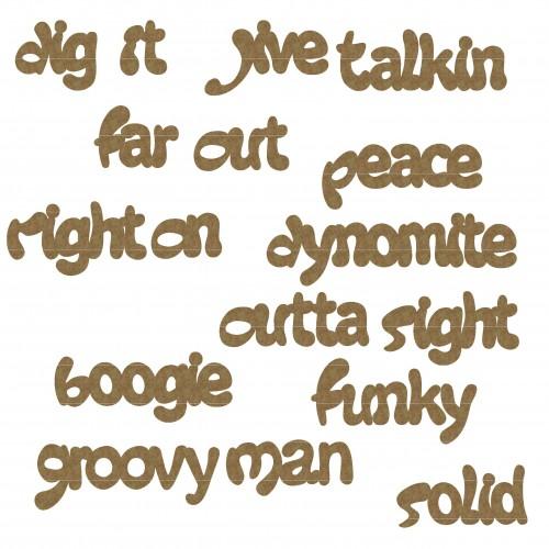 70 s Slang Word Set - Words