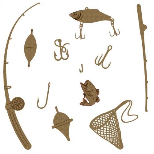 Fishing Set - Chipboard