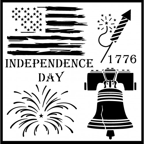 Independence Day Stencil - Stencils