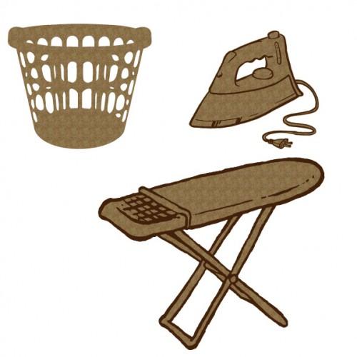 Laundry Set - Chipboard