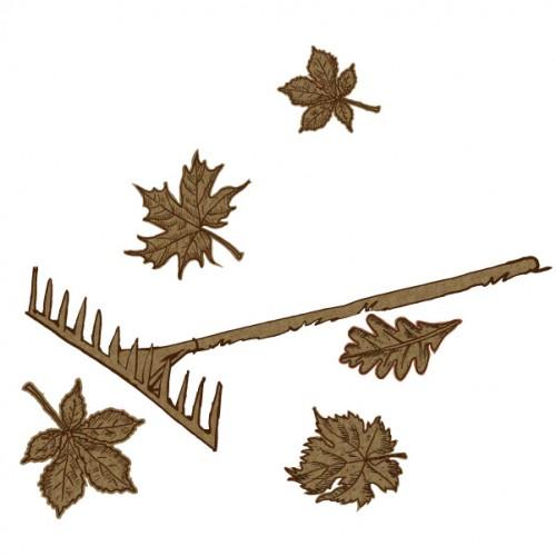 Leaves and Rake - Fall