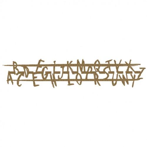 Scribble Alphabet Border - Borders