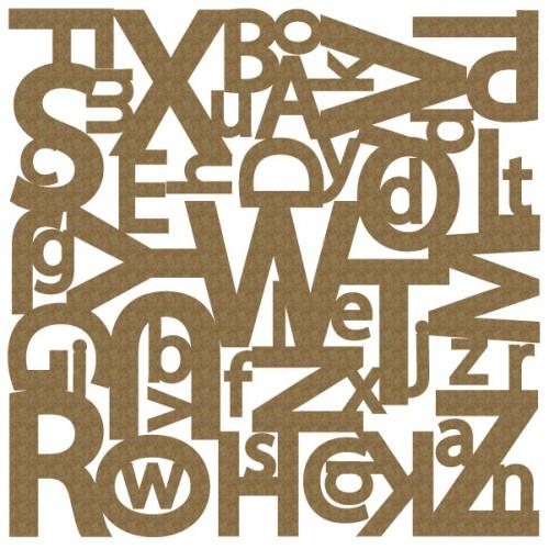 "Alphabet Panel - 6"" x 6"" Lattice Panels"