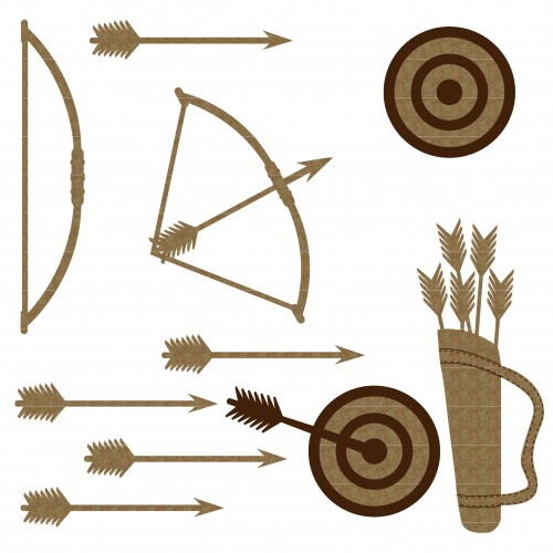 Archery Set - Chipboard