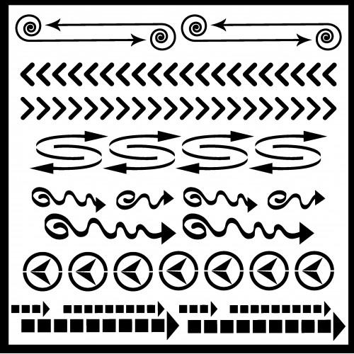 Arrow Stencil 2 - Stencils