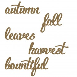 Autumn word Set