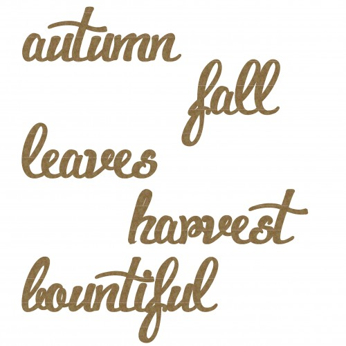 Autumn word Set - Words