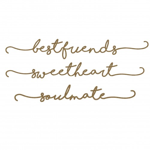 Best Friends Border Words - Words