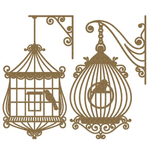Bird Cage Set 3 - Birds