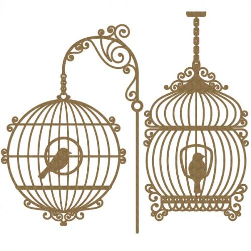 Bird Cage Set 4 - Birds