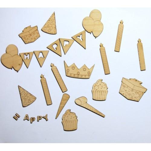 Birthday Fun - Wood Veneers
