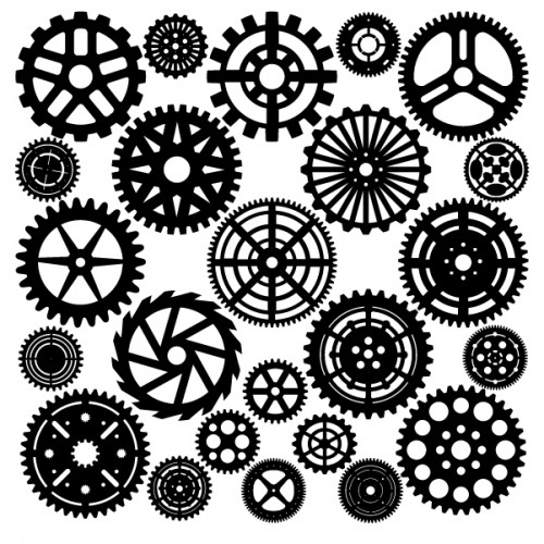 Large Gear Set Black - Steampunk
