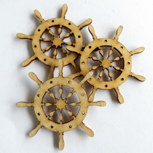 Boat Wheel (set of 6) - Nautical