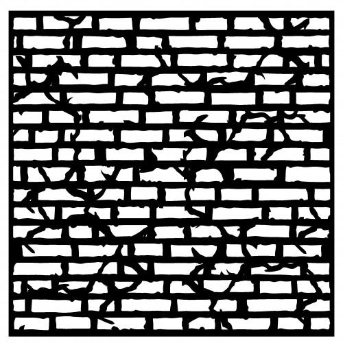 Crackled Brick Stencil - Stencils