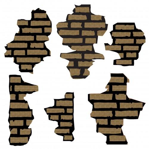 Brick Pieces - Chipboard
