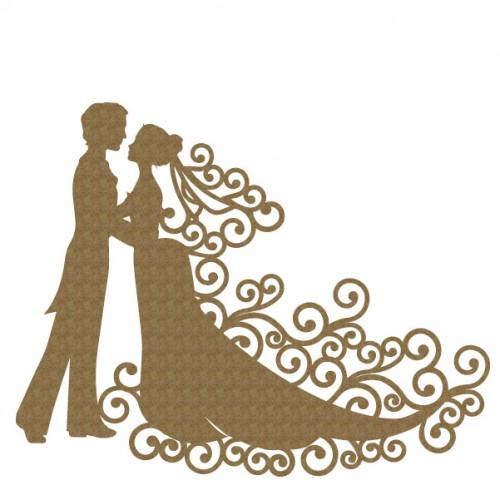 Bride Groom Couple - Chipboard