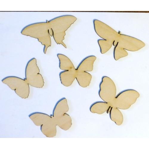 Butterflies - Wood Veneers