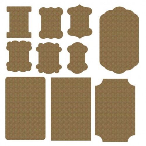 Button and Thread Cards - Chipboard