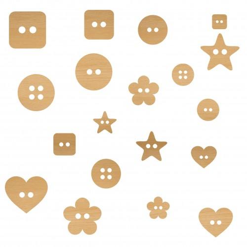Buttons - Wood Veneers