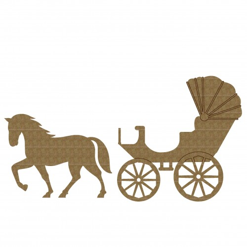 Horse and Buggy - Chipboard