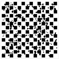 Distressed Checker Stencil