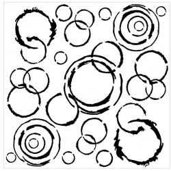 Distressed Circle Stencil