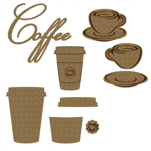 Coffee Set - Chipboard