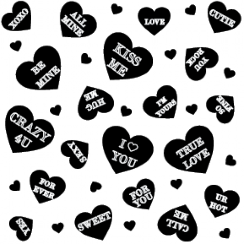 Conversation Hearts Stamp - Backgrounds