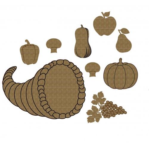 Cornucopia Set 1 - Thanksgiving