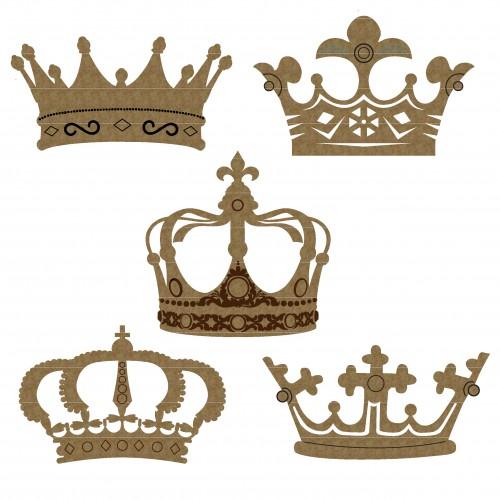 Crown Set 1 - Chipboard