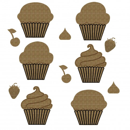 Cupcakes 2 - Chipboard