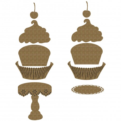 Cupcakes - Chipboard