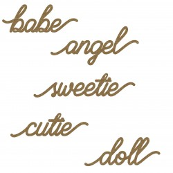 Cutie Word Set