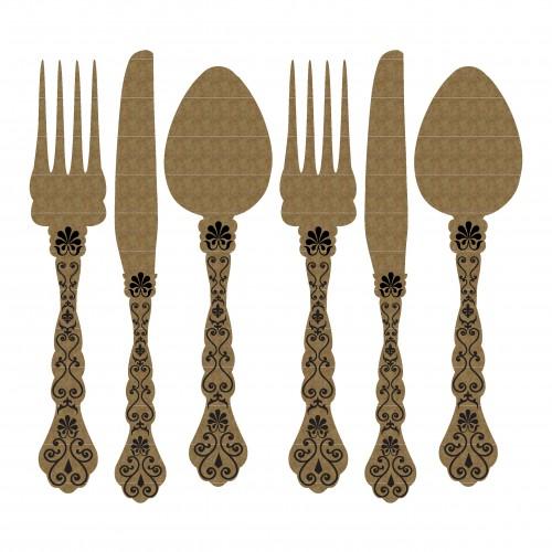 Small Cutlery - Chipboard