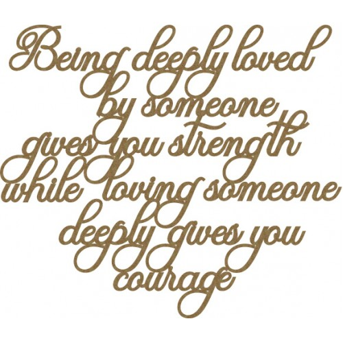 Deeply loved quote... - Words