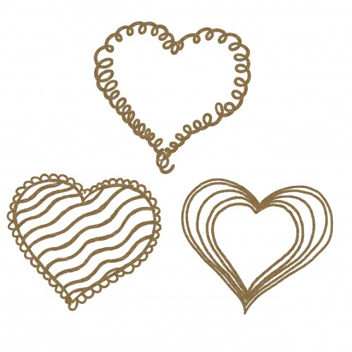 Doodle Hearts - Valentine s Day