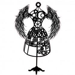 Steampunk Dressform Stamp