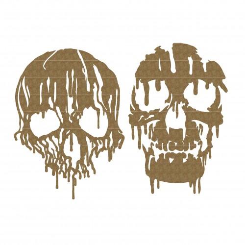 Melting Skulls - Halloween