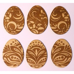 Easter Eggs Decorated (Set of 6)