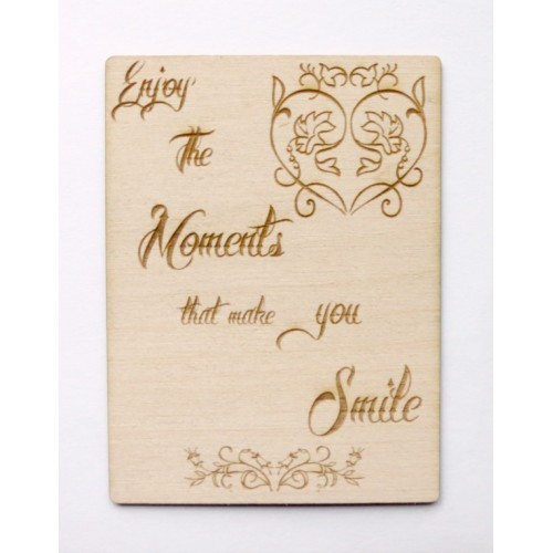 "Enjoy the Moments.... 3 x4  Card - 3""x4"" Cards"
